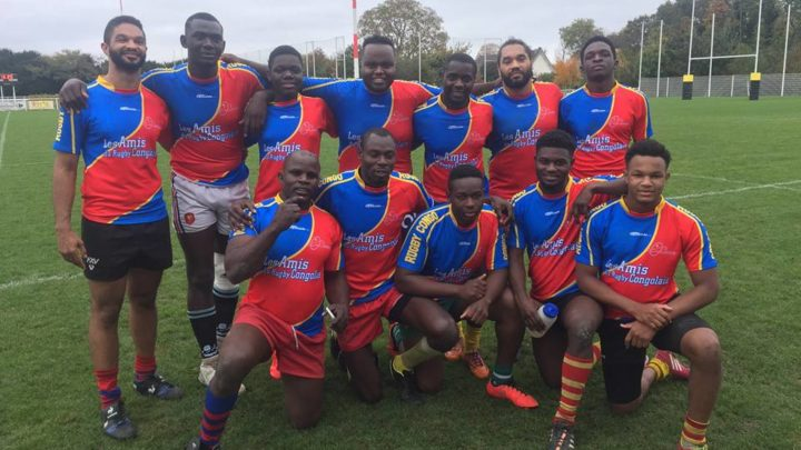 L'équipe nationale de la RDC rugby à 7 au tournoi international JC Technique en France